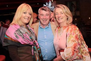 Celestine McCoy of h'Attitude, Martin Shanahan of Fishy Fishy Restaurant and Mary Tyner, Horse trainer at the launch of Kinsale Point to Point Festival