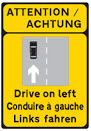 Drive-on-left-road-sign