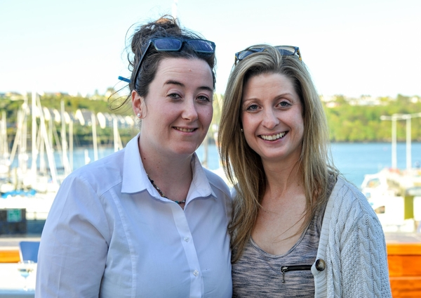 REPRO FREE Pictured at the launch of a 'A Postcard from Kinsale', a new marketing video for Kinsale at the Yacht Club were new Kinsale Chamber members Deirdre Delaney and Leona Robins from 9 Market Street Restaurant. Picture. John Allen