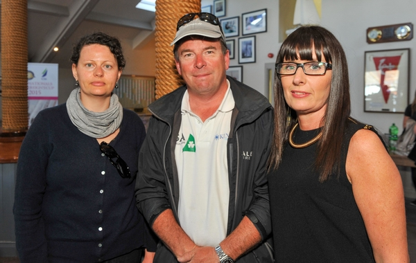 REPRO FREE Pictured at the launch of a 'A Postcard from Kinsale', a new marketing video for Kinsale at the Yacht Club were Sarah Tubridy, AltoHolistics; Daragh Murphy, Kinsale Boat Hire and Aisling Minihane, Aisling Tours. Picture. John Allen