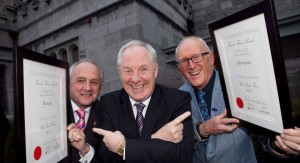 Charles Henderson (left) with Minister Michael Ring and Cllr. Michael Holmes from Westport at the Best Tourism Towns Awards 2014