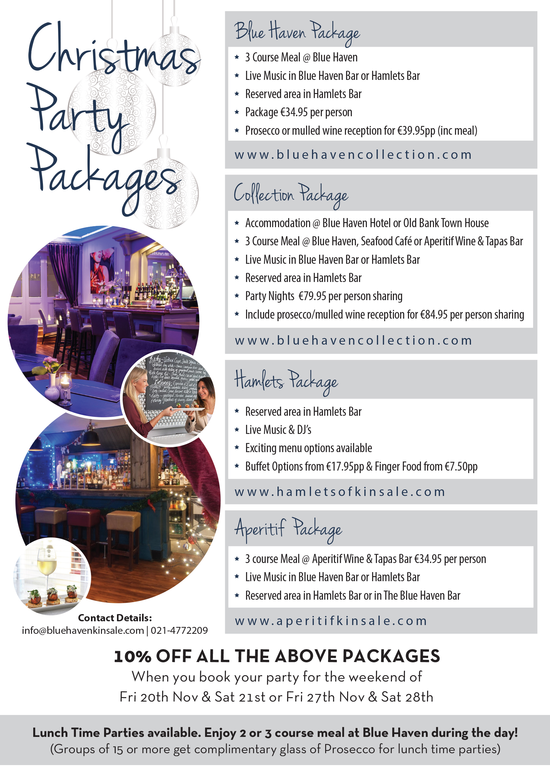 christmas party deals cardiff