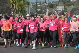 Sharon Crosbie, Kinsale Pink Ribbon Walk Ambassador gets the 2015 10km walk underway.