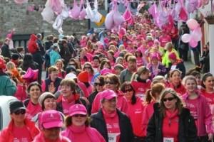 sea of pink ribbon walkers in Kinsale 2014