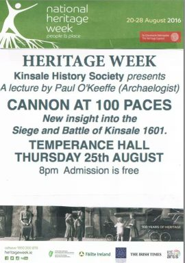 Heritage week lecture