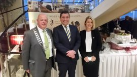 Tomas O'Brien, Chairman Kinsale Chamber of Tourism & Business, Jonathan Brown and Mandy Gabriel, Macdonald Kinsale Hotel & Spa