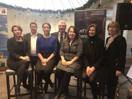 The guest speakers and panel for the Fitzgerald & Partners/Bank Of Ireland 'Innovation for Entrepreneurs' event at The Blue Haven, Kinsale
