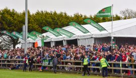 big crowds enjoying the Kinsale 7s atmosphere