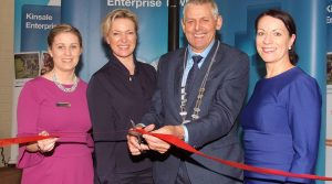 Maeve Dynan, Bank of Ireland, Rachel Allen, Cllr. Kevin Murphy, Eilis Mannion, Bank of Ireland at the opening of Kinsale Enterprise Town, April 2017. (Photo: John Allen)