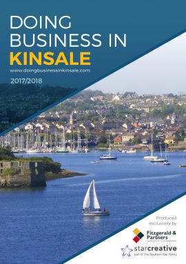 REPRO FREE Simon Coveney, Deputy Leader Fine Gael; Cormac Fitzgerald, Managing Director Fitzgerald & Partners and Sean Mahon, Managing Director, Star Creative pictured at the launch of ÔDoing Business in KinsaleÕ, a new 80 page guide promoting the famous town of Kinsale to a targeted audience of key investors, influencers, entrepreneurs or expatriates as an ideal location to live, relocate or to develop a business due to its proximity to Cork city, Cork airport, the motorway network and the start/finish of The Wild Atlantic Way Picture. John Allen  PRESS RELEASE : 20.10.2017 ÔDoing Business in KinsaleÕ launched to encourage business investment and   re-location to this famous and desirable Irish location Doing Business in KinsaleÊis a new, glossy 80-page book highlighting why this famous town has built a well-deserved reputation as great place to live and work. The idea for creating ÔDoing Business in KinsaleÕ came from Cormac Fitzgerald, Managing Director of Fitzgerald & Partners accountancy firm in Kinsale, who then engaged Star Creative to work on the project as a joint venture. The guide features contributions and articles from leading commentators, businesspeople and politicians including high profile economist, Jim Power; Ger OÕMahoney, Chairman of ÔVisit CorkÕ Strategic Task Force and PWC partner; Niall MacCarthy, CEO Cork Airport and Simon Coveney, Deputy leader Fine Gael, as well as Kinsale Chamber of Tourism & Business and the Kinsale Good Food Circle. Cormac Fitzgerald says: ÔWe wanted to create a guide to promote Kinsale to a wide yet targeted audience of key investors, influencers, entrepreneurs or expatriates looking for the ideal location to live, relocate or to develop a business. Kinsale offers a great quality of life, a vibrant business community and is only twenty minutes being from Cork city, Cork airport and the motorway network.Õ Sean Mahon, Managing Director of Star Creative says: ÔAs a businessman and family man I always think of Kinsale as a