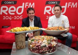 Diarmuid O'Leary, CEO RedFM and David Rice, Executive Chef Ballincurra House & Kinsale Gourmet Academy. Picture: Jim Coughlan.