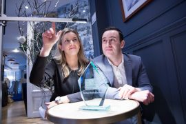 Magdalena Ruda, General Manager Blue Haven Hotel and Daniel Wolverson, Dyson Ireland  Picture Darragh Kane