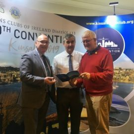L/R: Hal McElroy, Trident Hotel, Eddie McCarthy, Convention Director and Frank O'Donoghue, District Governor, Lions Ireland