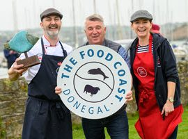 Mairead and Garry Anderson from the Seafood Shack in Killybegs have won first prize at the 9th All Ireland Chowder Cook Off in Actons Hotel Kinsale and organised by the Kinsale Good Food Circle. Picture. John Allen