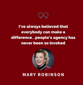 Change by Degrees chat with former President Mary Robinson